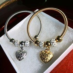 Jewelry - Matching Silver/Golden Bangle Bracelets
